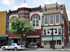 "Historic Downtown Hot Springs---a favorite vacation spot for gangster Al Capone and crime boss ""Lucky"" Luciano."