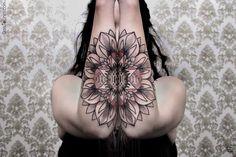 Geometric Mountain Tattoos : Black Ink Tattoos