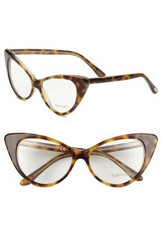 Free shipping and returns on Tom Ford Cat's Eye 55mm Optical Glasses (Online Only) at Nordstrom.com. Retro cat's-eye curves lend daring attitude to Italian optical frames fashioned with integrated nose pads.