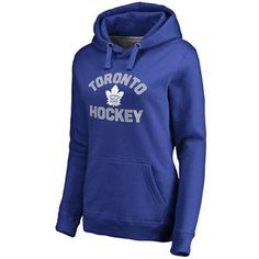 Toronto Maple Leafs Women's Blue Overtime Pullover Hoodie