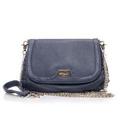 Espelho Navy Blue Chain Sling Bag