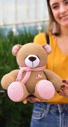 Crochet Teddy Bear Pattern, Crochet Bear, Crochet Patterns Amigurumi, Cute Crochet, Amigurumi Doll, Crochet Animals, Crochet Dolls, Pattern Images, Pattern Ideas
