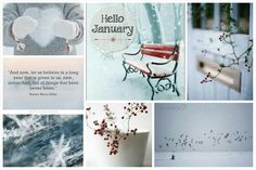 January calendar. #Moodboard #mosaic #colllage