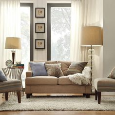 HomeSullivan Emerson Tan Linen Loveseat-40E502LS-LBLLS - The Home Depot