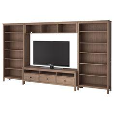 HEMNES TV storage combination - gray-brown - IKEA (if we ever get a newer tv)