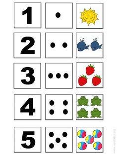 Kindergarten Math Worksheets, Preschool Learning Activities, Preschool Activities, Teaching Kids, Kids Learning, Educational Activities, Teaching Numbers, Numbers Preschool, Childhood Education