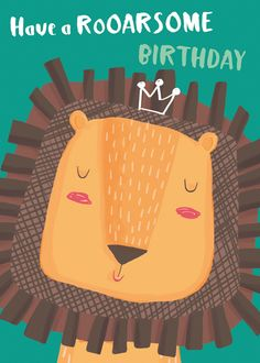 Leading Illustration & Publishing Agency based in London, New York & Marbella. Happy Birthday Nephew, Lion Birthday, Baby Boy Birthday, Birthday Card Sayings, Birthday Wishes Quotes, Happy Birthday Greetings, Bday Cards, Birthday Greeting Cards, Birthday Blessings