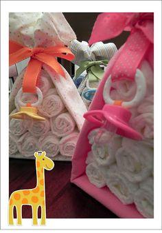 Baby Shower: Diaper Cake Stork Bundle-So Cute for shower gift