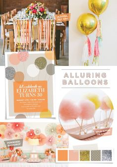 Girly girl adult birthday party ideas on the Tiny Prints blog today #party #stationery