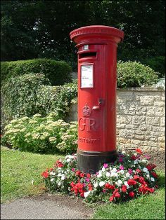 Post Box Antique Mailbox, Vintage Mailbox, Red Mailbox, Post Box Red, Telephone Booth, You've Got Mail, Police Box, Red Bus, English Countryside