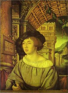 Portrait of a Young Man - Hans Holbein the Younger (1497-1543).  Place of Creation: Germany   Style: Northern Renaissance