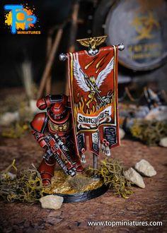 Blood Angels primaris Ancient freehand banner - Warhammer 40k Warhammer 40k Blood Angels, Warhammer Models, Diy Banner, Emperor, Marines, Tabletop, Workshop, Gaming, Miniatures