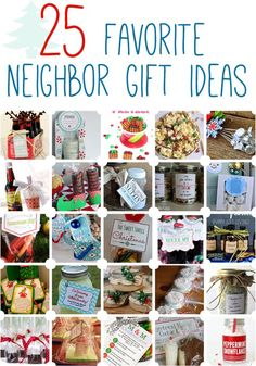 25 Favorite Neighbor Gift Ideas - because giving gifts is positively lovely, but sometimes thinking of the perfect gift is more than a little tricky! Check out these gift ideas and have a very merry holiday season. Neighbor Christmas Gifts, Cute Christmas Gifts, Neighbor Gifts, Homemade Christmas Gifts, All Things Christmas, Homemade Gifts, Holiday Fun, Holiday Gifts, Christmas Holidays