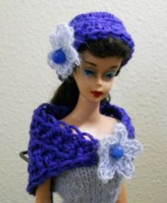 Barbie Doll Stole to Crochet; a Free pattern for beginners.