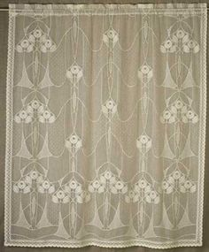 Lace Curtains: Alice Is A Classic Turn Of The Century Arts And Crafts  Pattern.