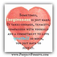 Forgiveness is hard
