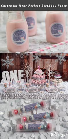 Celebrate your daughter's first birthday with our Pink Winter ONEderland Party Supplies! The Pink Winter ONEderland Party Supplies can be personalized with your child's name and even your favorite photos. - My WordPress Website 1st Birthday Party For Girls, First Birthday Themes, Birthday Ideas, Baby Birthday, My Princess, Winter Wonderland Birthday, Winter Onederland, 1st Birthdays, Tutorials