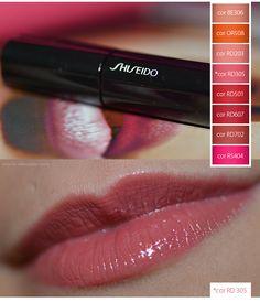 Batom Líquido   Testando Lacquer Rouge da Shiseido