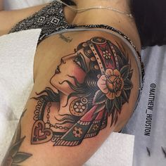 "3,883 Likes, 25 Comments - Matt Houston (@matthew_houston) on Instagram: ""Gypsy added to Amanda's arm"""