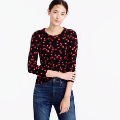 J.Crew+-+Tippi+sweater+in+cherry+print