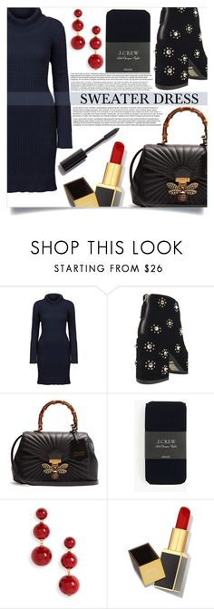 """Sweater Dress"" by mistressofdarkness ❤ liked on Polyvore featuring DUBARRY, Gucci, J.Crew, Kate Spade, Tom Ford and Chanel"