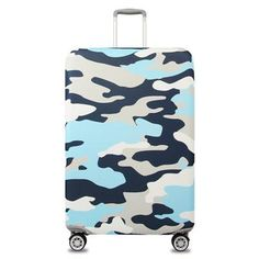 DAFARUYI Travel Luggage Cover Bstract Pictures Suitcase Protector Cover Elastic Spandex Washable for Travel 23-32Inch