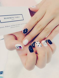 Mickey Mouse & Dot Nail Art From. Bloomingnails
