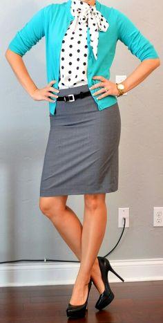 Grey skirt- cute!