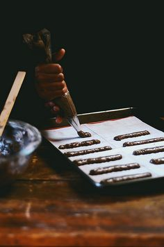 Chocolate Lady Fingers | A Brown Table