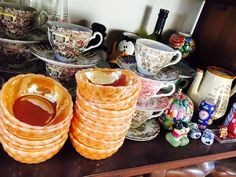 Cereal bowl #peachlustre #fireking #vintagefireking
