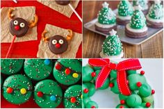 During the holidays there are so many incredible ways to use your favorite Oreo cookie. Christmas Appetizers, Christmas Treats, Christmas Baking, Christmas Time, Merry Christmas, Strawberry Cake Mix Cookies, Italian Christmas Cookies, Cookie Exchange Party, Xmas Cookies