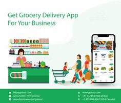 Goteso is on demand grocery store ordering and delivery app development company where software developers can provide you with various online supermarket shopping app portal like Grofers clone, Instacart clone, Bigbasket clone. Grocery Shopping App, Online Grocery Store, Grocery Delivery App, Supermarket App, E Commerce Business, App Development Companies, Mobile App, Cloud Kitchen, India Usa