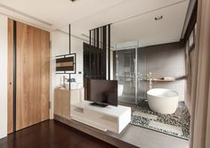 living modern house Taipei High Level of Interactivity Exuded by Stylish Modern Home in Taiwan