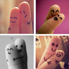doesn't this make you feel all warm and happy inside? #feelgood #fingerhugs #love