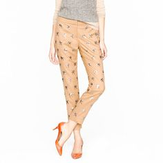 Collection sequin bow pant - pants, shorts & skirts - Women's J.Crew Collection - J.Crew  Oooooo! Yes please!!!!