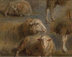 Rosa Bonheur,  Sheep Studies   Things of beauty I like to see: Photo
