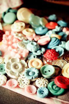 Pretty plastic vintage buttons