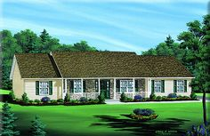 Ranch Home Plan: GREENVILLE   |   1,900 Square Feet of Living Area  |  3 Bedroom  |  2 Bathrooms