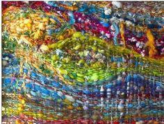 saori weaving | Je suis raid dingue de ce tissage réalisé par Gypsee Art