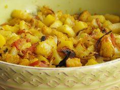 As receitas lá de casa: Batatas com broa e bacon na Actifry Express