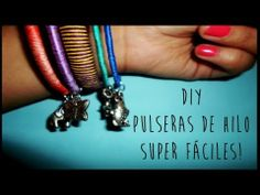 DIY Pulseras de hilo superfáciles! - YouTube
