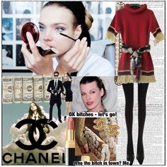 A fashion look from December 2010 featuring Chanel dresses, Chanel tops and Fogal tights. Browse and shop related looks.
