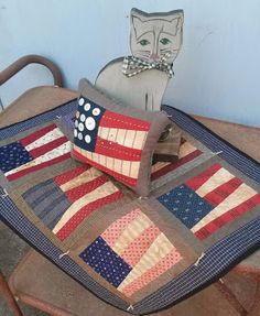 quiltsbycheri ~ simply red, white and blue