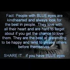 Facts about people with Blue Eyes
