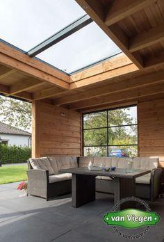 Overkapping_Lienden_(15)[1] Pergola Patio, Backyard, Canopy Outdoor, Outdoor Decor, Wooden Gazebo, Pergola Attached To House, Garden Office, Pergola Designs, Home Interior Design