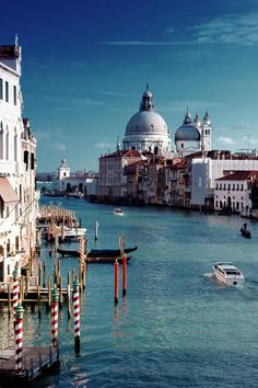 Church of Madonna della Salute - Grand Canal of Venice, Italy