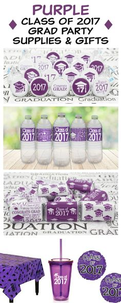 Show off that purple pride! Honor the Class of 2017 in style with our purple Class of 2017 graduation supplies.