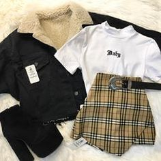 Edgy Outfits, Retro Outfits, Mode Outfits, Cute Casual Outfits, Vintage Outfits, Korean Outfits, Grunge Outfits, Girls Fashion Clothes, Teen Fashion Outfits
