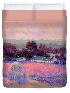 David Bridburg Duvet Cover featuring the digital art Inv Blend 10 Monet by David Bridburg
