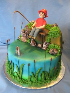 fishing birthday cakes - Google Search
